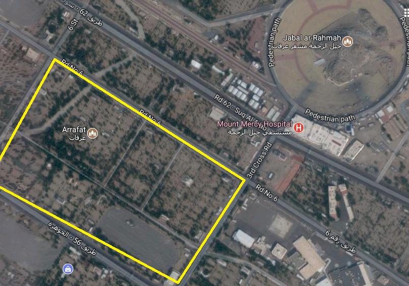 خريطة خيام المصريين بعرفات